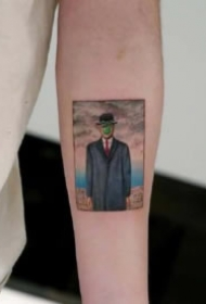 经典油画艺术主题纹身图案