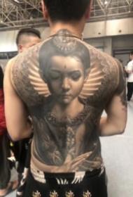 廊坊纹身展的大满背纹身作品
