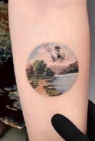 武昌纹身店油画风格的纹身小图案