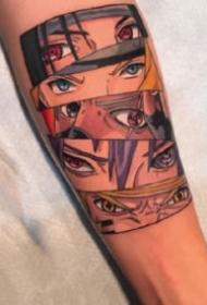 关于动漫火影忍者的纹身图案