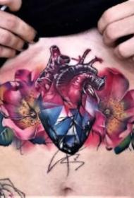 精美好看的心脏纹身图案