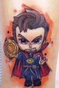 可爱Q版复仇者联盟漫威英雄纹身图片