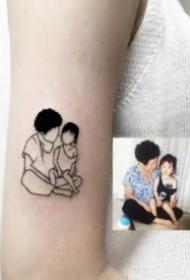 把相片转化成简笔画的纹身图案