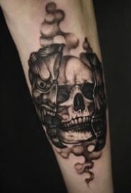 恐怖帅气有个性的骷髅纹身图片
