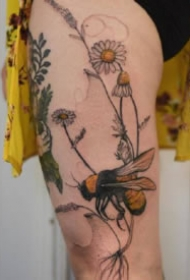 超创意的唯美水彩色系纹身图案