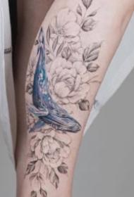 适合女生的小臂素花纹身图案