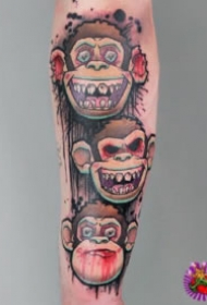 多种风格的大猩猩纹身图案