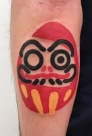 可爱的粗线条创意涂鸦纹身图案