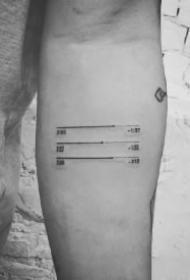 好看个性的音乐播放器符号纹身图案