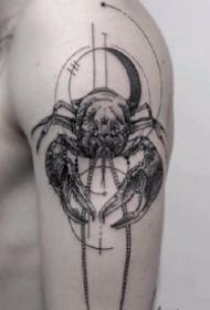 适合巨蟹座的螃蟹纹身图案