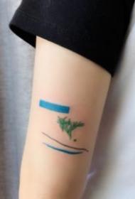 极简的小清新英文数字等纹身图案