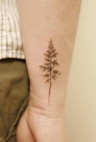手腕处的简单好看的小纹身图案