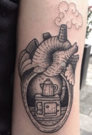 创意的心脏主题纹身图案