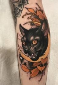 18组关于猫咪的纹身图案欣赏