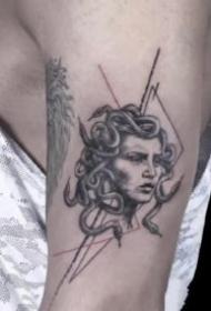 有创意的几何线条纹身图案