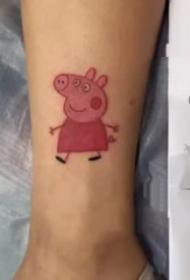 好玩的小猪佩奇纹身图案