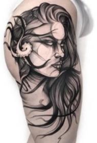 帅气的欧美暗黑纹身图案