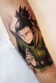 包小臂的卡通动漫人物纹身图案