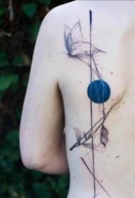 蓝色太阳的创意纹身图案