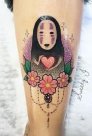 千与千寻无脸男的纹身图案