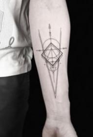 一组好看的几何图形纹身