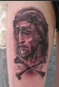 关于耶稣基督的纹身图案