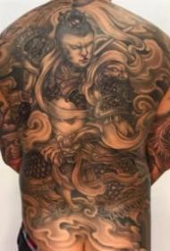 中国传统的大满背纹身图片欣赏