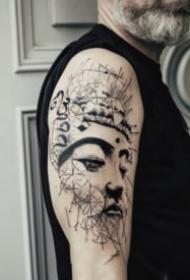 传统风格的佛像纹身图案