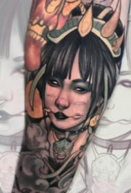 16组school风格的欧美彩色纹身图案