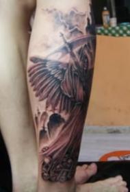非常霸气的欧美死神纹身图案