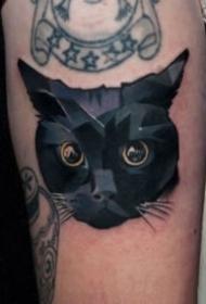 一组猫咪主题的纹身图案