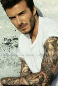 欧美男士帅哥帅气的纹身图案