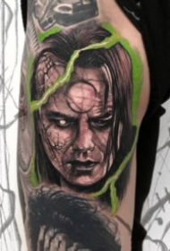 超现实主义的欧美暗黑人像纹身图案大全