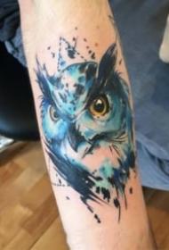 一组暗水彩风格的狮子等动物纹身图案
