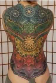 震撼霸气的大满背纹身图案