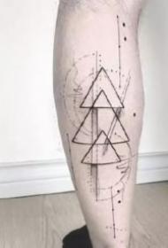 几何图形主题纹身图案和手稿欣赏
