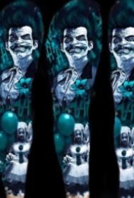 梦幻蓝色调的一组炫彩写实纹身图片