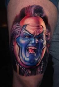 恐怖电影的人物肖像纹身图片