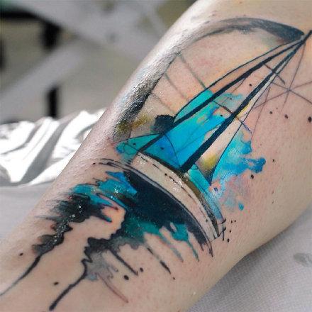 21款水彩泼墨系列的漂亮纹身图片