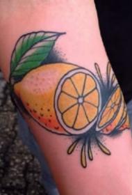 关于水果柠檬的纹身图片