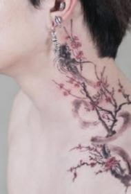 玫瑰等传统小清新花卉纹身图片