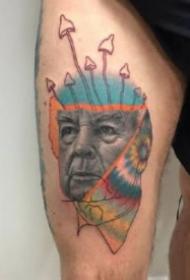 另类创意风格的欧美肖像纹身图片