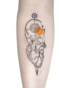 好看的水彩设计小臂纹身图片