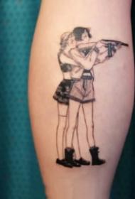 很可爱的卡通时尚小女孩纹身图片