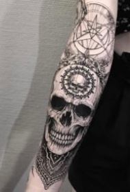 暗黑创意设计包小臂纹身图片