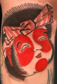 红色传统日式纹身图片