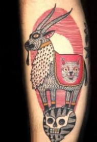 个性另类的school创意纹身图片
