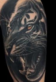 威武霸气的老虎纹身图案