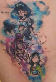 唯美的迪士尼公主纹身图案