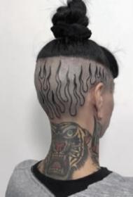 个性另类的脑袋上纹身图案